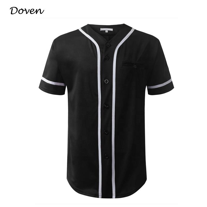 American blank buttoned baseball jersey