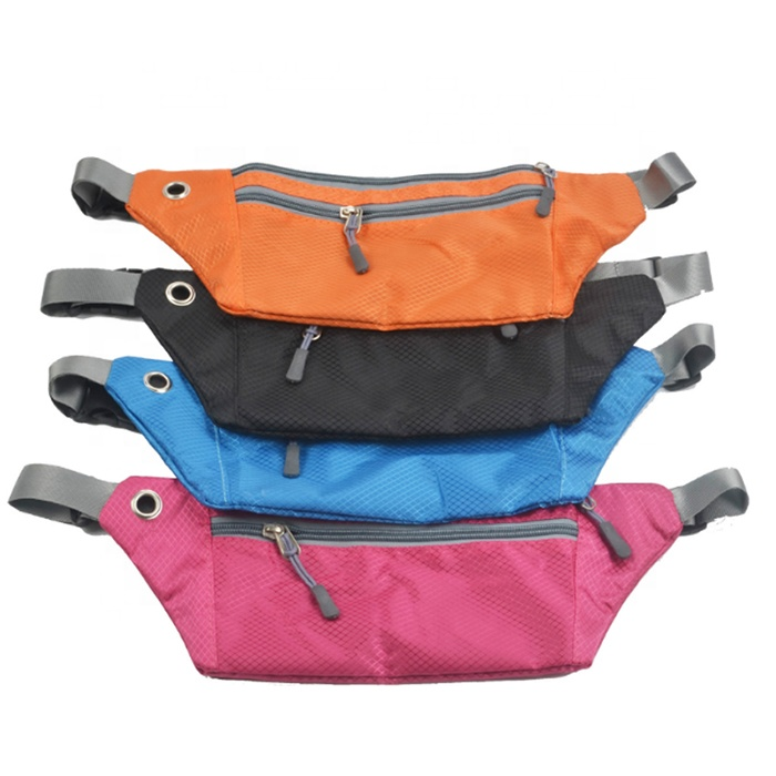 Customized outdoor sports unisex with many pockets waist bags