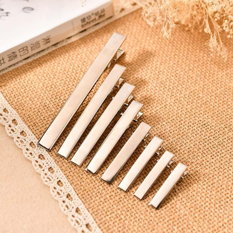 cheap wholesale 4cm,5cm,6cm,7cm,8cm,10cm Silver Metal Flat duck Clips gold hair Alligator clips