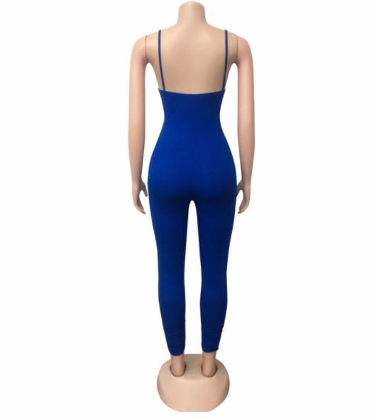 MD-2082633 baru 2020 wanita bergaya padat tanpa lengan perban jumpsuit
