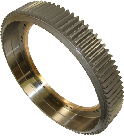 Customized high quality 4140 rolled ring in-house heat nitrided spur gear made in China
