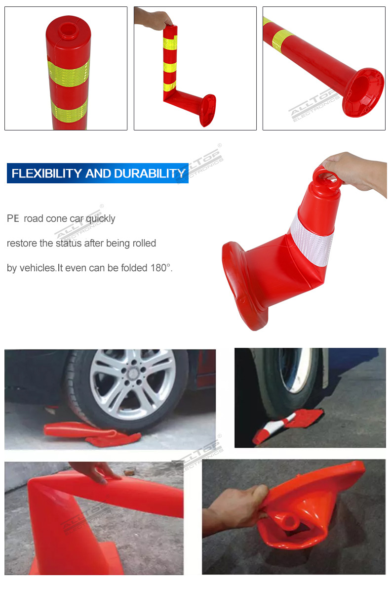 High quality red and yellow water filled red plastic road traffic barrier