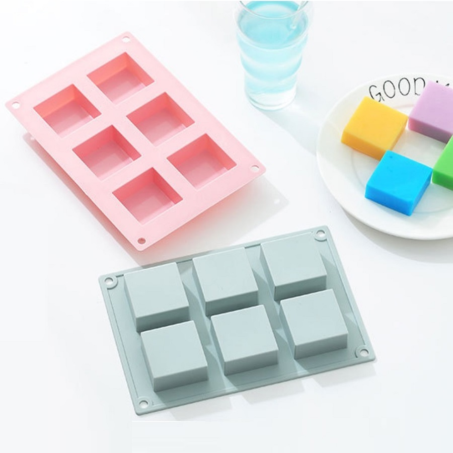 Large Handmade DIY Baking Tools Custom LOGO Square Rectangle Moulds Decoration 3D Bar Making Silicone Cake Soap Molds