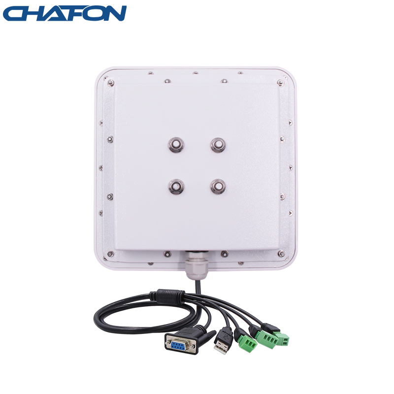 CHAFON 6m USB RS232 WG26 RELAY interface password mode vehicle tracking cheap uhf antenna integrated rfid long distance reader
