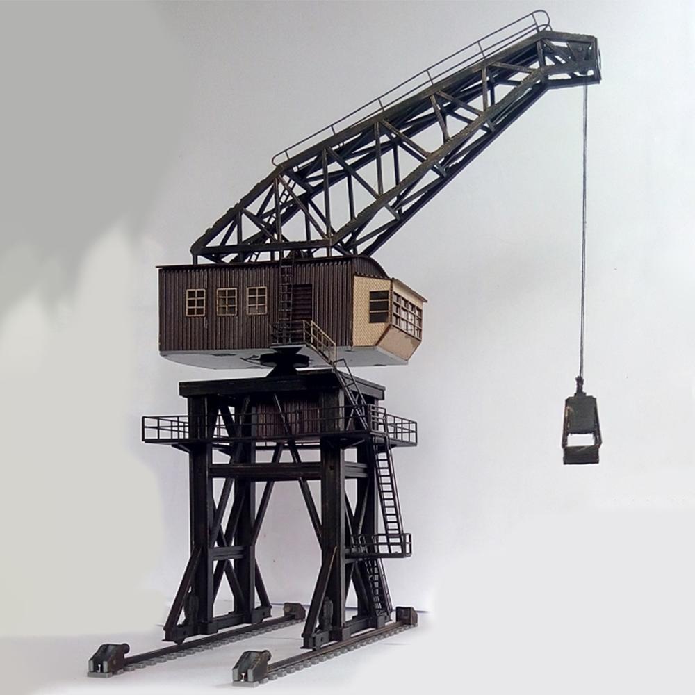 1:87 HO Scale Train Railway Scene Decoration Large-scale Coal Crane Model