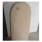 Tombstone Carving Tombstone Design Sandstone Tombstone With Round Top And Elegant Rose Carving