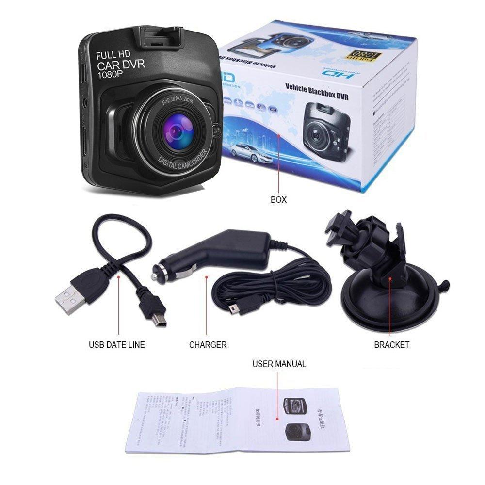 Kamera Dasbor GT300, Perekam Video Dasbor DVR Mobil Kotak Hitam Kendaraan HD 1080P Full HD 1080P