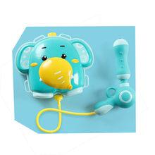 Детский мультяшный рюкзак с водяным пистолетом для улицы, игрушки для бассейна с распылителем, резервуар для распыления воды, игрушки для д...(Китай)