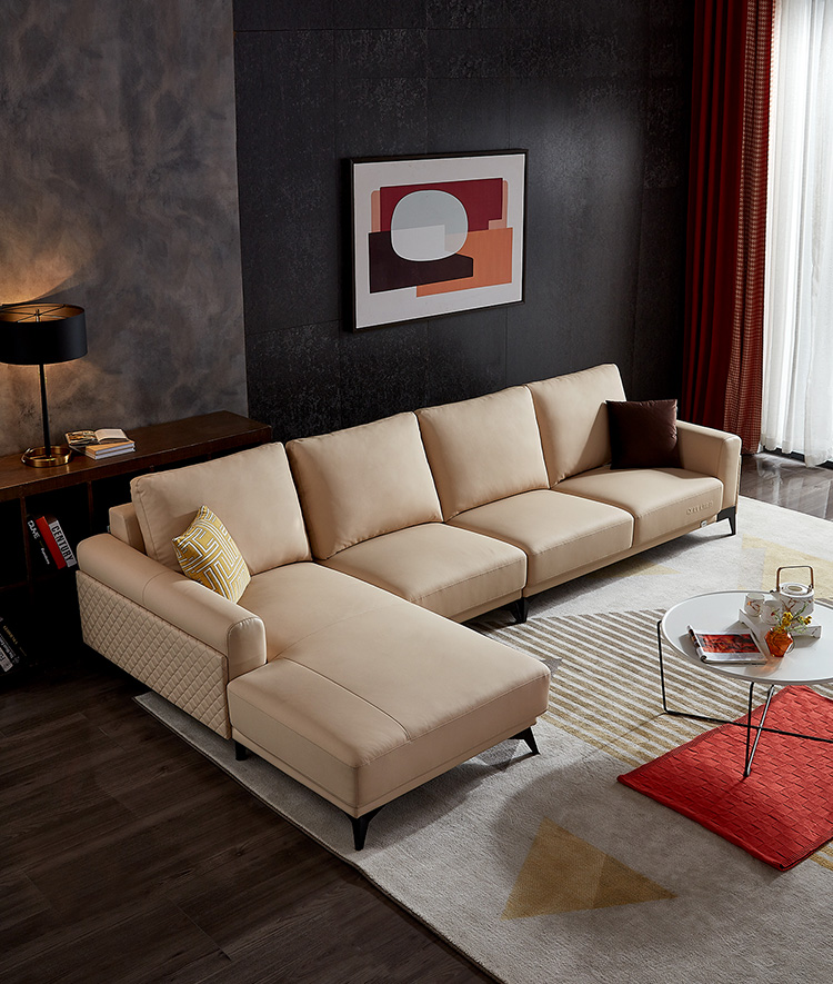 102511 classic vintage genuine italy leather sectional couch sofa set brown