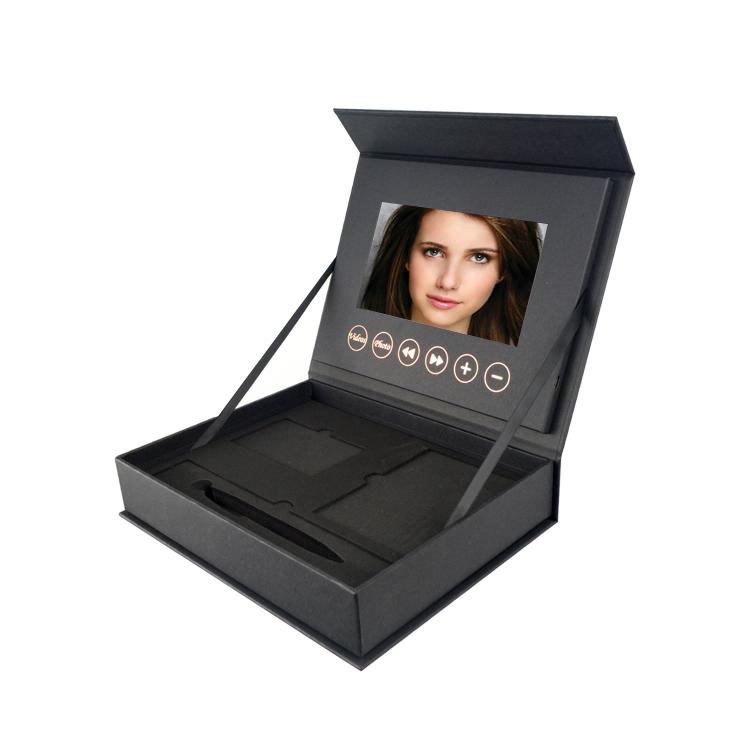 Caixa de vídeo tela lcd tft, venda quente da fábrica, mais recente design, joias
