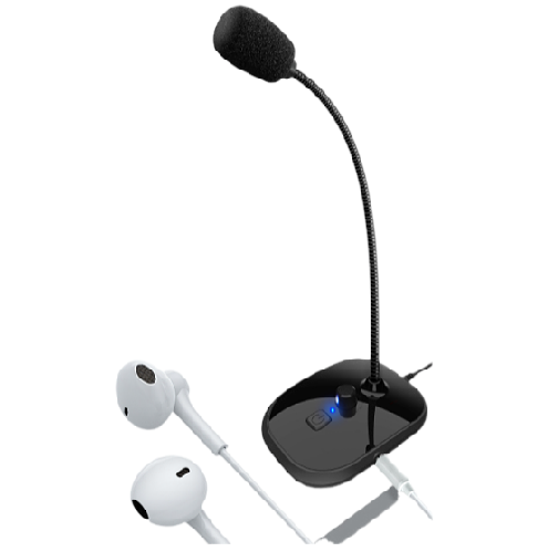 2021 Fast condensor mic Headset Listening Monitoring USB Connected PC Wired Desktop Microphone Computer Mic For PC
