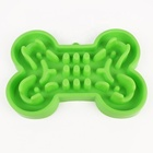 Hot Sale Attractive Fun Silicone Slow Eating Feeder Portable Pet Dog Bowl For Chew Proof