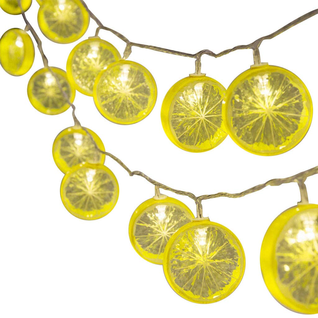 Holiday Time Lghts10 LED Lemon LED String Lights for Party