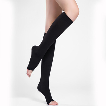 20-30mmHg Open Toe Medical Compression Socks Knee High Graduated Custom Logo Compression Socks Stockings