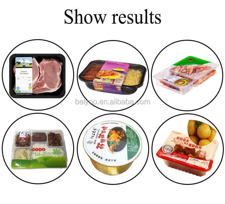 From China Commercial Plastic Nitrogen Vacuum Heat Sealing Machine For Fresh Meat