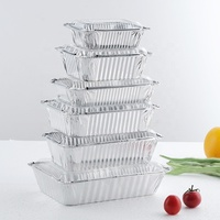 Hot Disposable Bake Pan / Baking Pan Food Aluminum Containers / Foil Trays