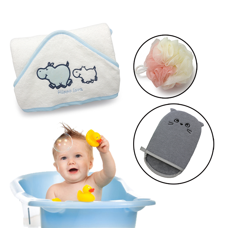 600 GSM Premium Extra Soft Hooded Bamboo Baby Bath <strong>Towel</strong> and Washcloth, Organic and Hypoallergenic <strong>towel</strong>