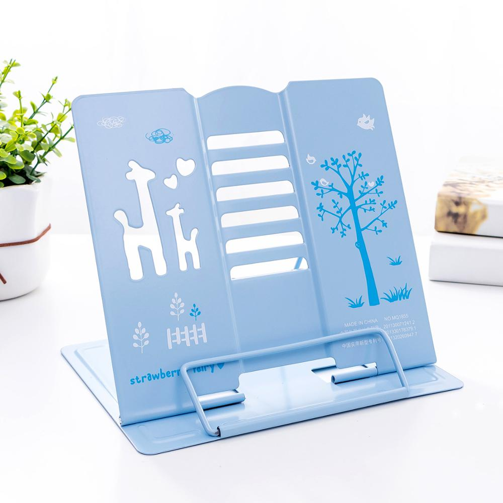 High quality reading shelf protect eyesight heavy duty metal book stand