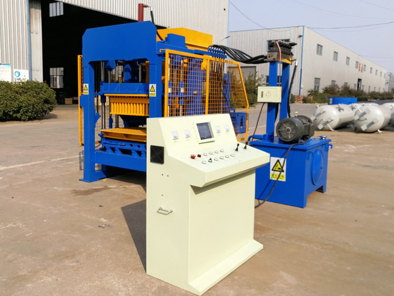 QT4-15 construction building electric cement brick making machine to make concrete hollow blocks