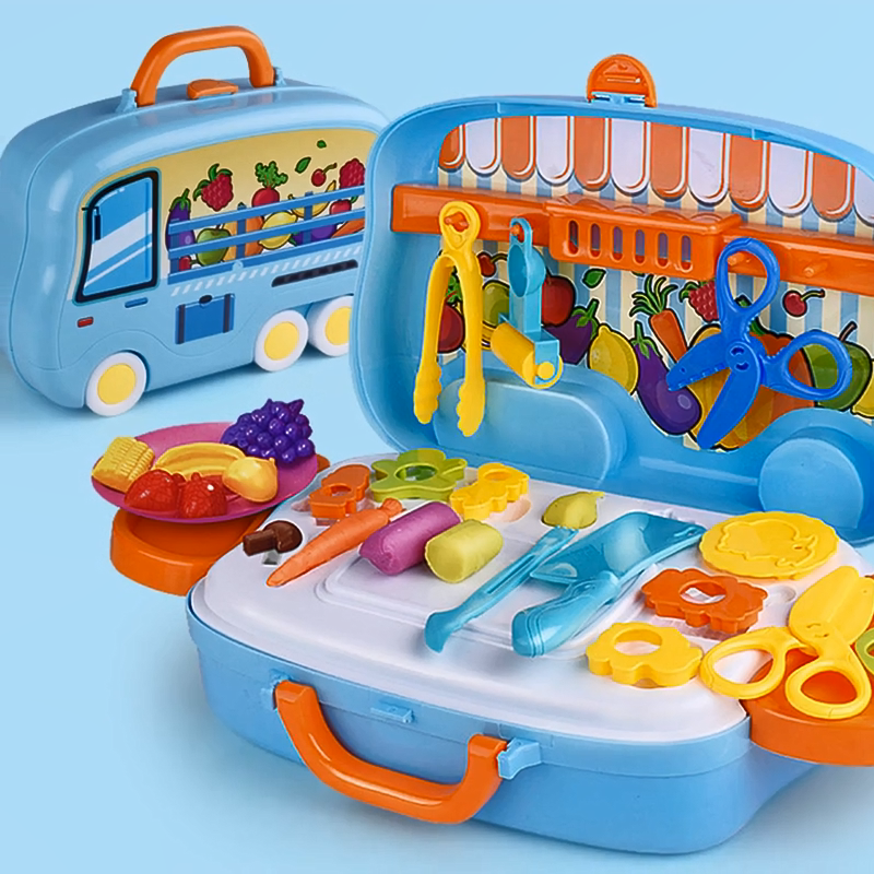 Children's Suitcase Kitchen Toy Girl Dresser Toy Stethoscope Luggage Funiture Toys For Kids