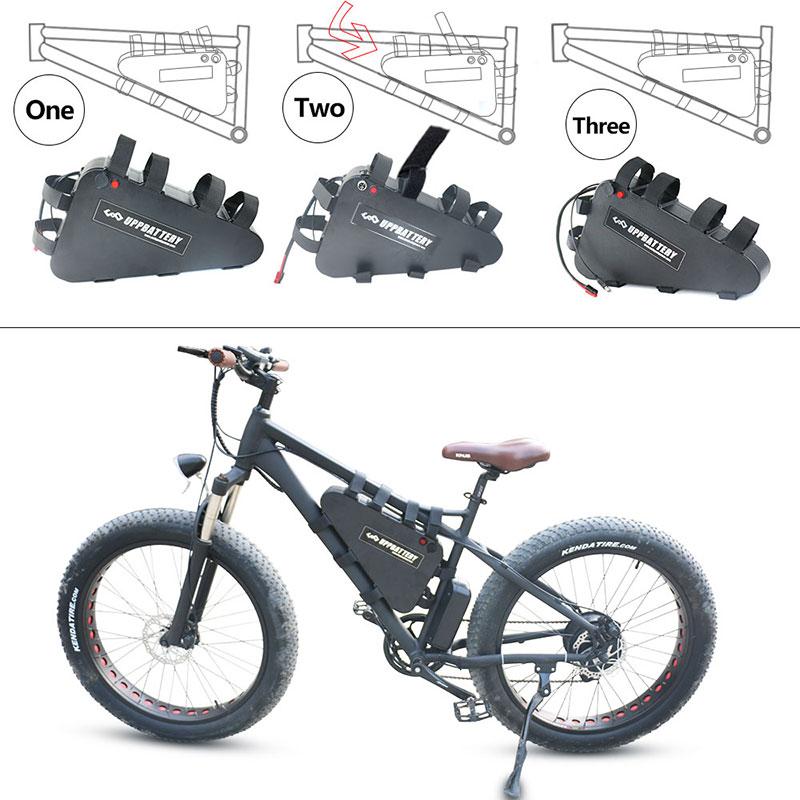 48V 52v E Bike Battery 20ah 28ah Triangle Electric Bikes Batteries Lithium Ion Ebike Bateria Para Bicicleta Electrica