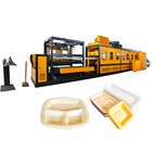 disposable ps foam plastic lunch box thermoforming making machine hamburger fast food box vacuum forming production line