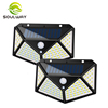 Best Sale Amazon China Supplier Waterproof Outdoor Motion Sensor Infrared Wall Lamp, 100 Led Garden Sensor Solar Light