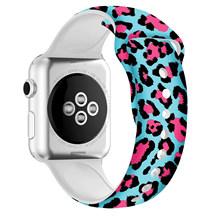 20 Стильный силиконовый ремешок для Apple Watch series 5 4 3 2 1 Спортивный Браслет для iWatch 38 мм 42 мм 40 мм 44 мм Correa(Китай)
