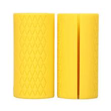 1 пара новых грипов для гантелей, штанги, силиконовые толстые рукоятки для жировых захватов, подтягивающие опоры для тяжелой атлетики, проти...(China)