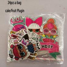 LOL сюрприз куклы день рождения тема украшения поставки Праздничная чашка тарелка ложка торт стенд мероприятие событие Дети Подарки(Китай)