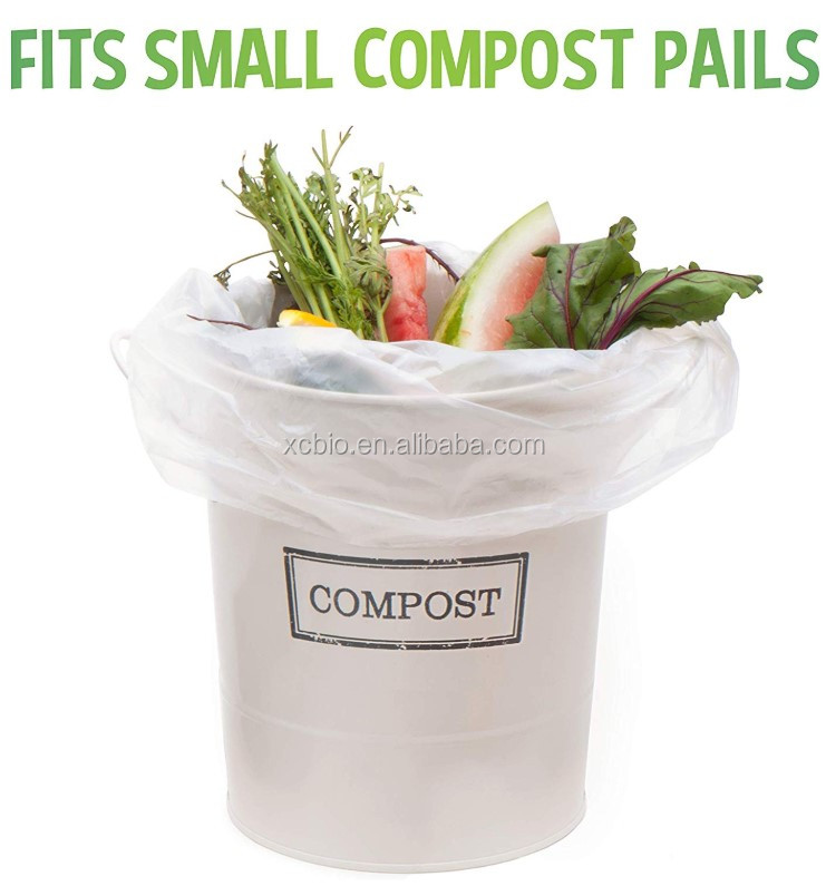 Bags, Premium Certified, Extra Thick, Kitchen Food Scraps & Home Trash Bags, 3 Gallon, 100% Compostable Biodegradable bag