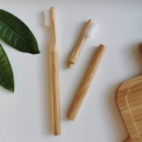 biodegradable replaceable toothbrush head bamboo toothbrush replace head