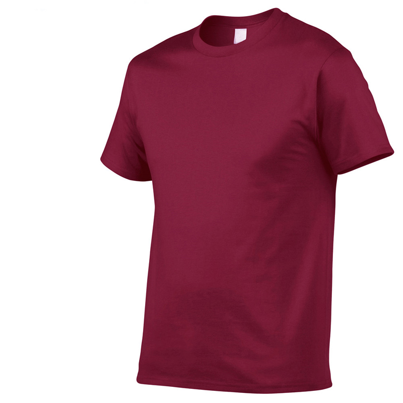 Solid Color Hot Sale Tshirts Men's 100%Cotton Casual  Summer T-shirt Comfortable Short Sleeve European Size