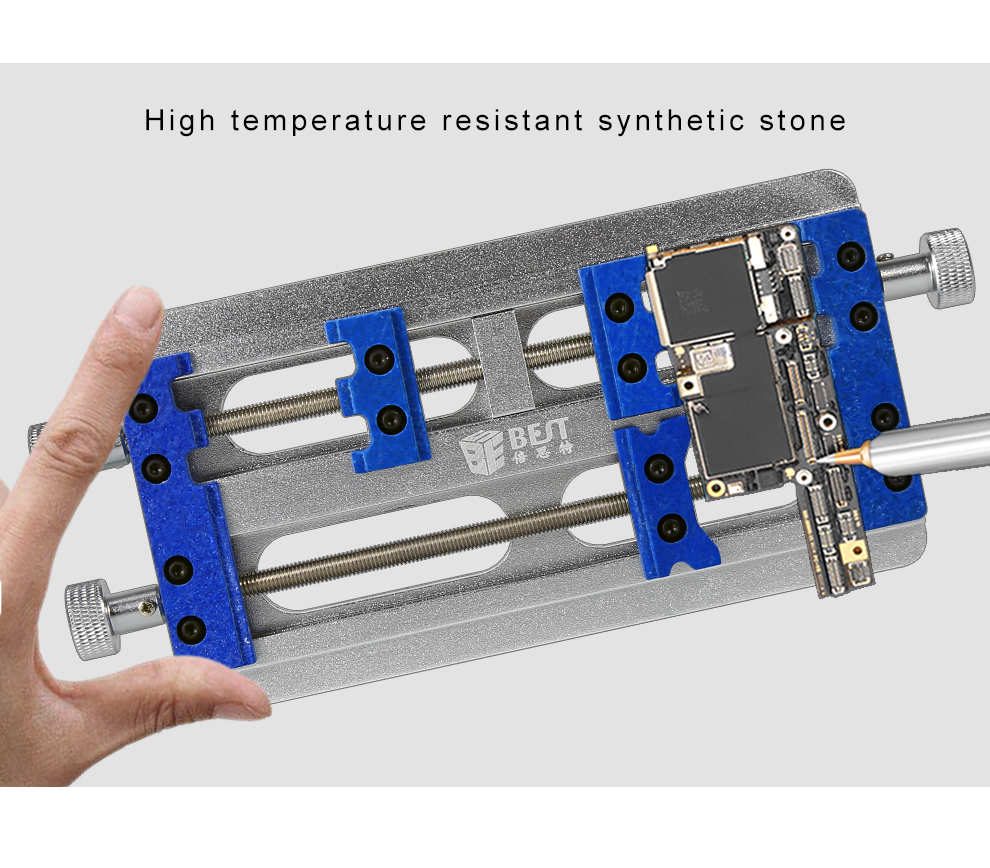 BST-001K Aluminum alloy high temperature resistant synthetic stone clamp main borad fixture for repairing motherboard.jpg