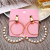 New arrival korean style fashion big zinc alloy double round beaded statement earrings for women