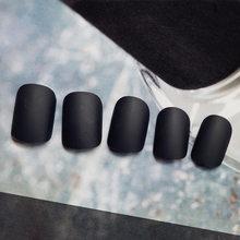 2019 24 шт Съемные носимые матовые накладные ногти полное покрытие короткие стильные яркие цвета накладные ногти(Китай)