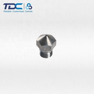 Wear resistance standard tungsten 3D printer nozzle for high speed printing