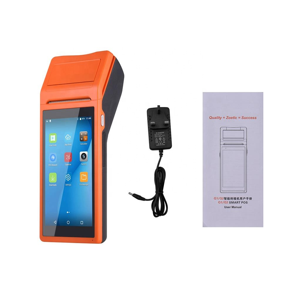 Cheap 5.5 inch Handheld POS Android POS Terminal with 58 mm thermal receipt printer For Delivery food