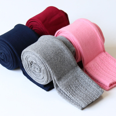 Autumn winter <strong>fashion</strong> <strong>kids</strong> skinny pants candy color baby <strong>girls</strong> knitted tight leggings