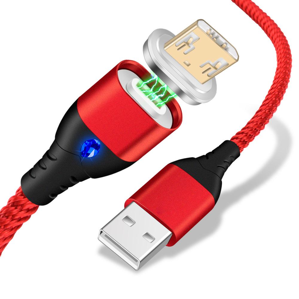3A manyetik USB kablosu ile mikro usb tip C IOS konektörü 3 IN 1 otomatik emme veri kablosu