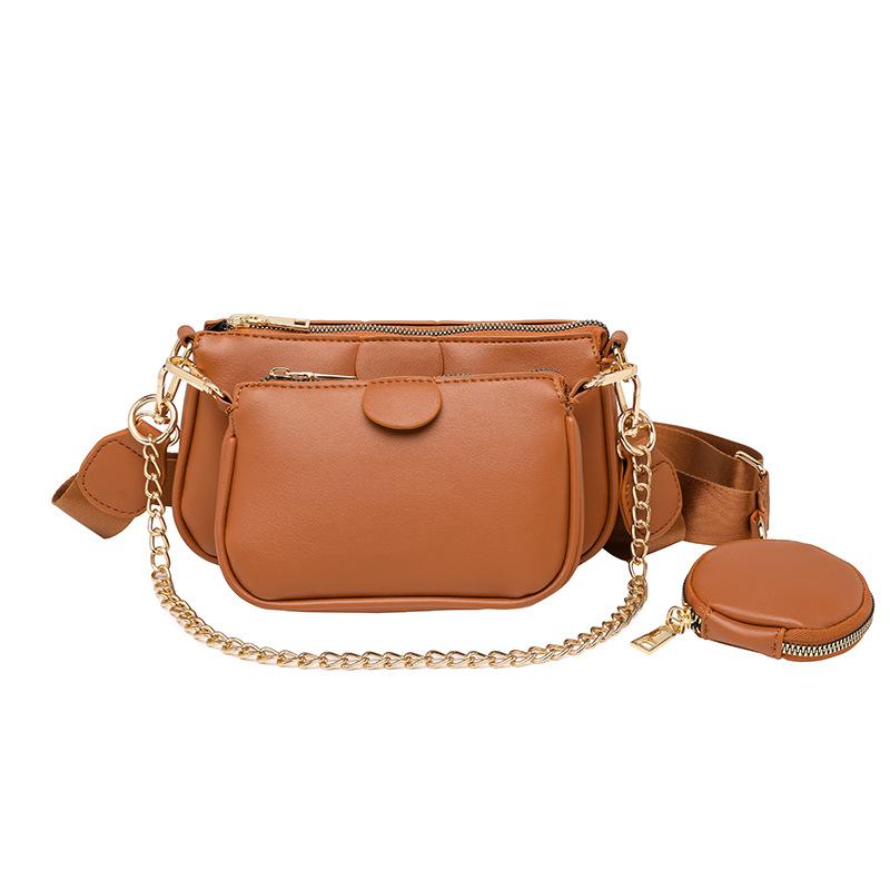 Luxury Ladies Mahjong Bags 3 pcs in 1 set purses and handbags Famous Brands Fashion Designer Women Shoulder Crossbody Bags, Black