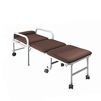 CE ISO approved high quality folding chair bed for attendant