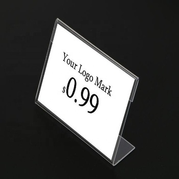 Wholesale clear price tag acrylic/transparent price tag holder