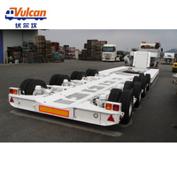 Hot Selling China Manufacturer Multi Axle Hydraulic Suspension Low Bed Semi Trailer