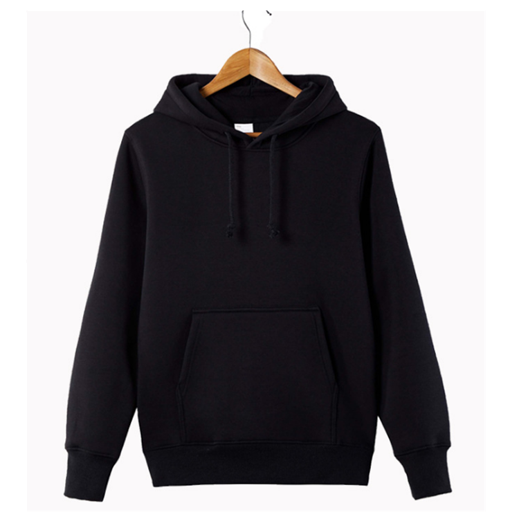 Logo Customized Pullover Winter Warm <strong>Mens</strong> <strong>Black</strong> <strong>Hoodie</strong>