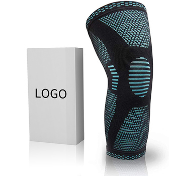Custom High Quality 3D Knitted Elastic Knee Support Sports Knee Brace Compression Knee Sleeve for Running Fitness