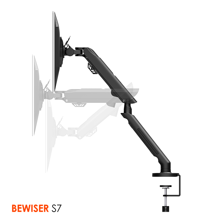 Gas spring lcd monitor desk mount Flexible holder arm Hanging lcd monitor arm (BEWISER S7)