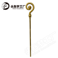 2020 year new items Medieval Fantasy Walking Staff Cane Crook Bishop Wizard Costume Accessory