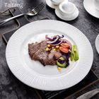 White Dinner Plates Hotel Restaurant Ceramic Round Dinnerware Sets