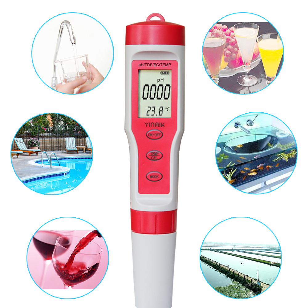 2019 hot selling mini PH EC TDS phmeter and conductivity <strong>meter</strong> multifunctional digital water <strong>Meter</strong> for water quality tester